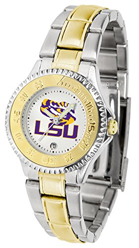 Sport State Tigers Steel Watch (LSU Tigers Competitor Two-Tone Women's Watch)