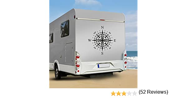 Adhesivo para/caravana Clickzilla WA102 dise/ño de rosa de los vientos