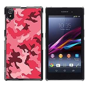 - Army Camouflage Pink Purple/ Duro Snap en el tel??fono celular de la cubierta - Cao - For Sony Xperia Z1 L39