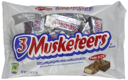 3 Musketeers Chocolate Candy (3 Musketeers Fun Size Candy Bars - 11)