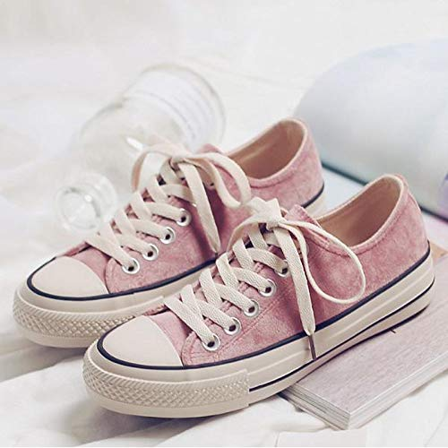 Nero Canvas donna Comfort tonda Primavera Verde da Scarpe Autunno ZHZNVX Rosa Tacco Pink piatto Punta Sneakers tqnWS7BC