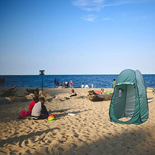 XUENUO Carpa Emergente Instantánea, Tienda de Campaña Portátil Acampar Vestuario Impermeable Camping Desplegable Pop Up para Privacidad al Aire Libre,Verde