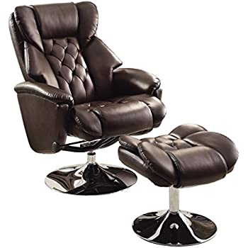 Homelegance 8548BRW-1 Swivel Reclining Chair with Ottoman Dark Brown Bonded Leather Match  sc 1 st  Amazon.com & Amazon.com: Homelegance 8548BRW-1 Swivel Reclining Chair with ... islam-shia.org