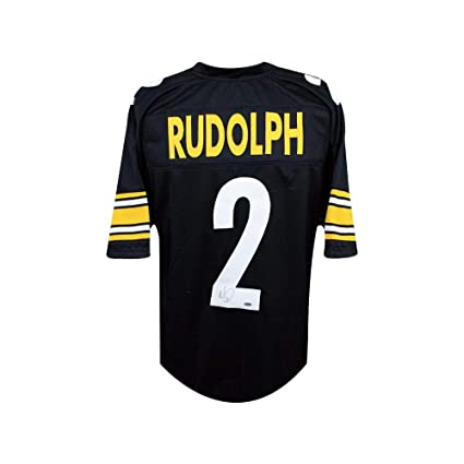Mason Rudolph Autographed Pittsburgh Steelers Custom Football Jersey - Leaf  COA b7b3bc61f