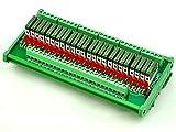 ELECTRONICS-SALON Slim DIN Rail Mount DC24V Sink/NPN 24 SPST-NO 5A Power Relay Module, PA1a-24V