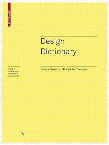 Design Dictionary (Board of International Research in Design) by Brand: Birkhäuser Architecture