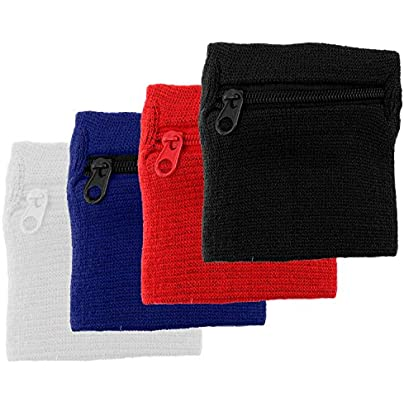 Set Unisex Zipper Wallet Wrist Band Pocket Sweatband For Sport Travel Running Cycling Volleyball Basketball Football Baseball Estimated Price £8.39 -
