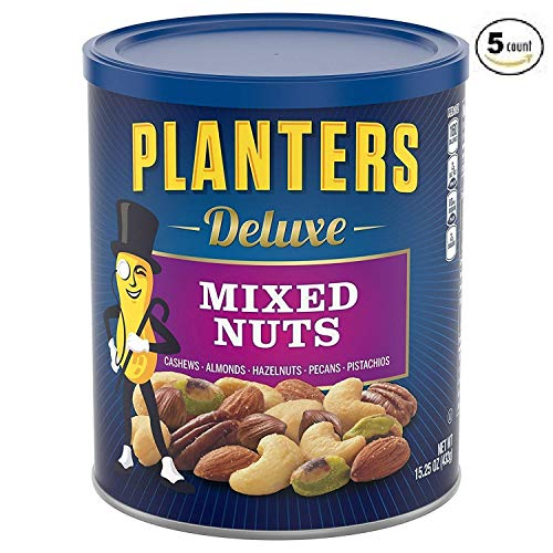 Planters Deluxe Mixed Nuts, 5 Tubs (15.25 Ounce) by Planters (Image #3)