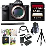 Sony Alpha a7SII Mirrorless Digital Camera (Body Only) w/ Sony 64GB Memory Card Condenser Microphone & Accessory Bundle