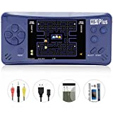 Kids' Handheld Games Portable Game Player, RS-1 Plus Old School Arcade Gaming System for Boys Girls Adults, 3.5'' Color LCD Screen 218 Retro Classic Games 1 USB Charge-Royal Blue