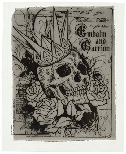 Stampendous Cling Stamp, Crowned Skull (Skull Stamp)