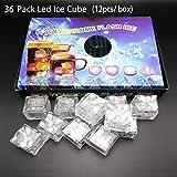36PCS IPX7 Waterproof Led Lighting Flashing Multi-Color Liquid Sensor Ice Cube Lights for Bar Club Drinking Party Wine Wedding Decoration