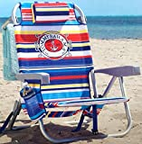 Tommy Bahama Backpack Beach Chair Multi Color Stripe Life Ring & Anchor Logo: more info