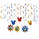 Amscan Disney Mickey Mouse Hanging Swirl Value Pack