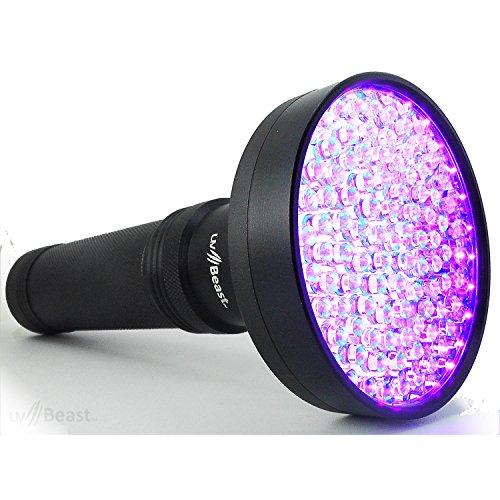 uvBeast Black Light UV Flashlight – HIGH Power 100 LED with 30-feet Flood Effect – Professional Grade 385nm-395nm Best for Commercial/Domestic Use Works Even in Ambient Light - USA Stock – UK Design]()