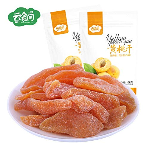 Chinese Snacks Foods Dried Yellow Peach Dried Fruit Candied Fruit 黄桃干108X3包 黄桃果肉桃子干蜜桃果干零食蜜饯 by Gofeden