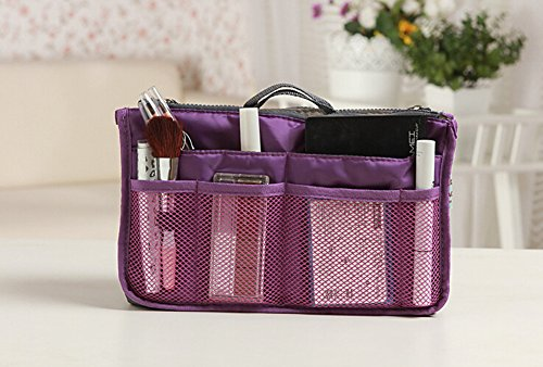 di borsa Purple tasche della corsa 12 il inserisce black Lyuboov dell'organizzatore sacchetto cosmetico wzFa07fxq