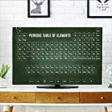 Jiahonghome tv Protective Cover Chemistry Science Inspirational Elements Educational Art for Class Dark Green and White tv Protective Cover W20 x H40 INCH/TV 40'-43'