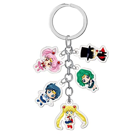 CAR-TOBBY 1 Llavero Super Lindo Sailor Moon y Luna Llavero
