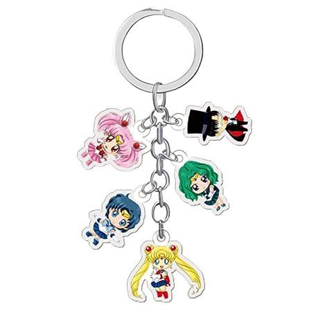 Templom SIX Sailor Moon - Llavero de metal, diseño de muñeca ...