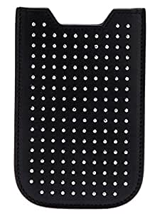 Saint Laurent Black Studded Leather Iphone Case