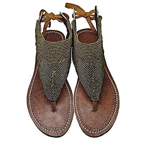 GlobalHandmade Reef sandy Gold sandal shoe for women | Handmade summer Gold reef flip flops for women, Gold, US Size 5-13