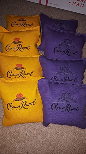 Crown-Royal-Cornhole-Bean-Bags-set-of-8-Tournament-Regulation