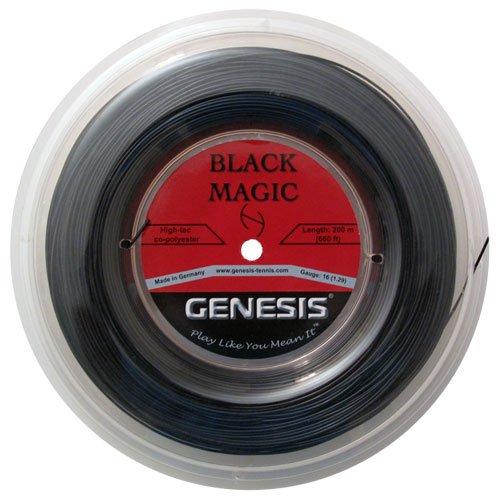 Genesis 660-Feet Black Magic Tennis Racket Reel Set, Black, 16L/1.29mm