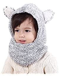 Baby Kids Warm Winter Hats Cute Thick Earflap Hood Hat...
