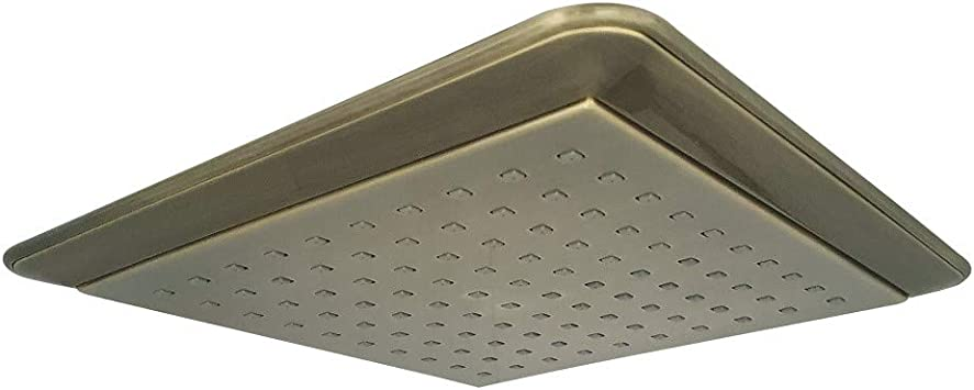Kingston Brass 8-In Chrome Single-Spray Square Raincan Full Bathroom Shower Head