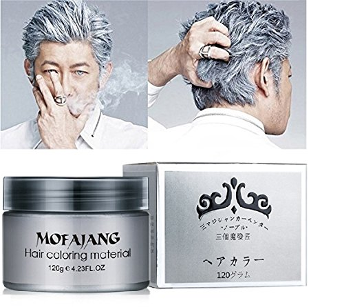 Fanmin Hair Wax 4.23 oz, Washed Hair Wax, Natural Matte Hairstyle Hair For Party, Cosplay (Silvery Gray) ()