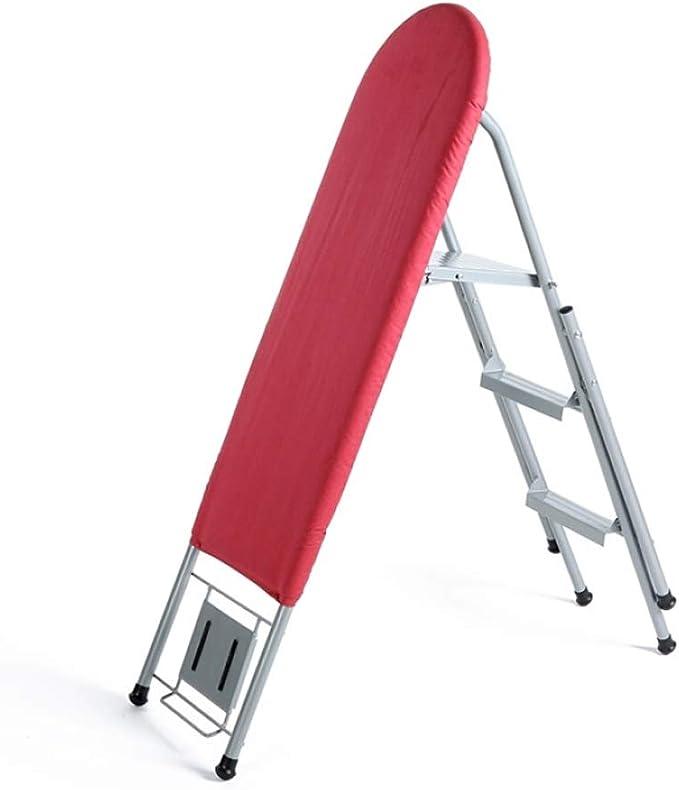 Tabla de Planchar Plegable Grande para el hogar, Tabla de Planchar Multiusos de Uso múltiple de la Escalera de la Tabla de Planchar, Rojo de 115cm (Color : Red): Amazon.es: Hogar