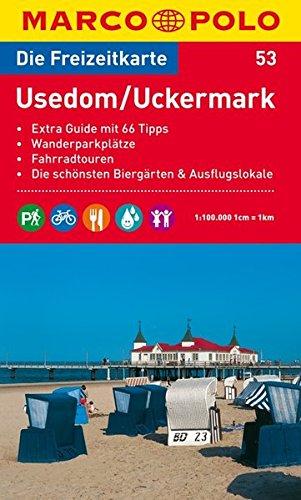 MARCO POLO Freizeitkarte Usedom, Uckermark 1:100.000