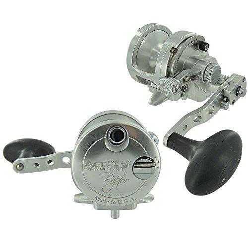 Avet 2-Speed H6 3:1 L3 8:1 Braid MC Raptor, Silver, 300-30-Pounds