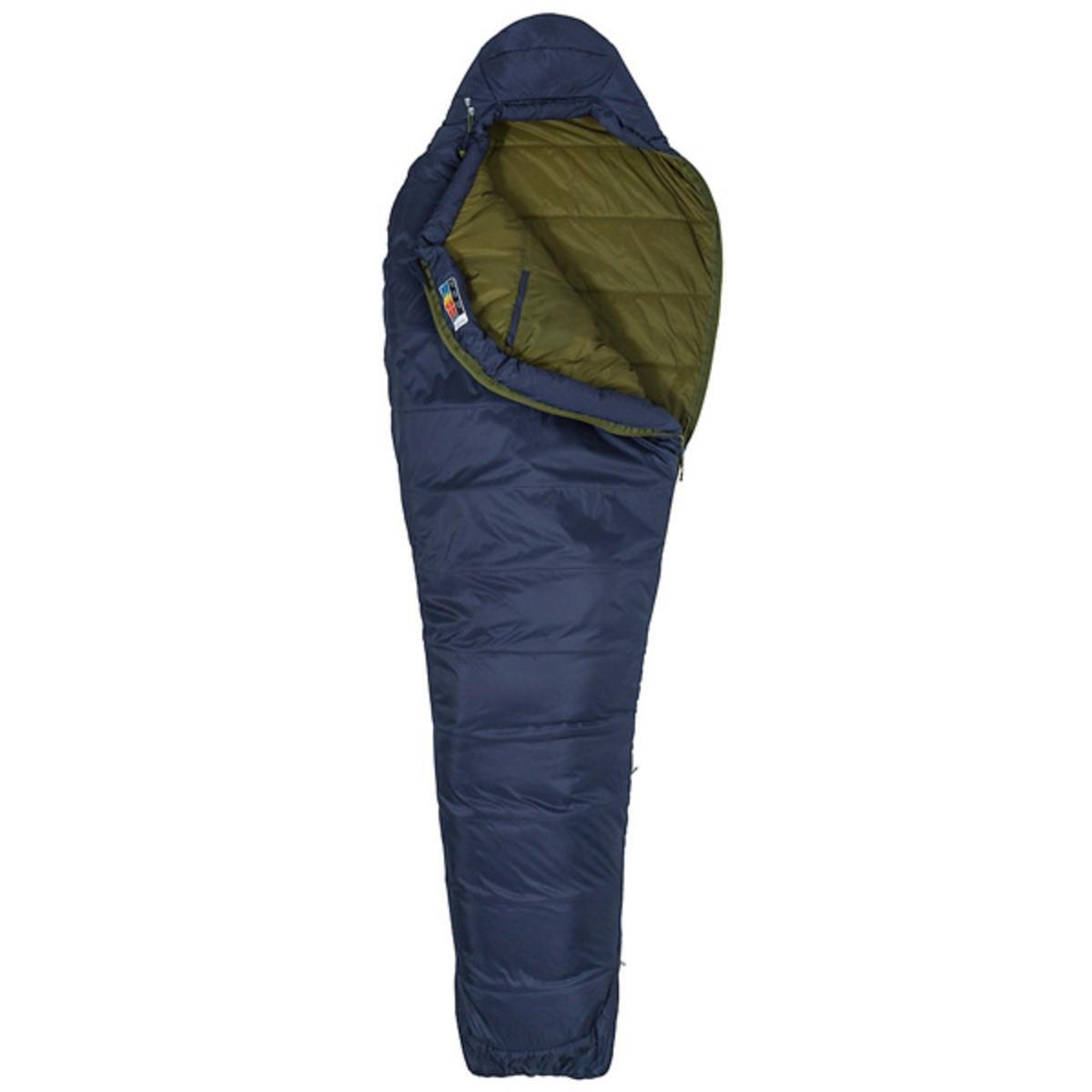 Marmot Ultra Elite 30 Saco de Dormir Mummy, Ultraligero, de Verano, para Acampar y Trekking, Hombres, Azul (Gris Dark Steel/Military Green), Largo-198 cm: ...