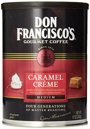 Don Francisco's Caramel Crème, Premium 100% Arabica Coffee Beans, Flavored Coffee, Medium Roast, Ground, 12-Ounce Can