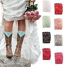 American Trends Women's Stretch Lace Boot Leg Cuffs Soft Leg Warmers Socks
