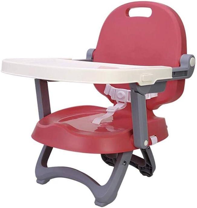 ZHJXQ 赤ん坊ダイニングチェア、直立姿勢と健康的なヒップのためのトレイとベビーチェアブースターシート (Color : Red)