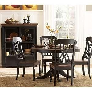 Homelegance Ohana 6 Piece Round Dining Room Set In Black Cherry