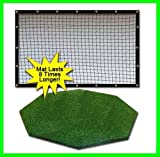 Golf Mat Golf Net Combo 9' x 10' High Velocity Impact Panel and a 5' x 5' Residential Octagon Golf Mat, Free Ball Tray/Balls/Tees/60 Min. Full Swing Training DVD/Impact Decals and Correction Guide With Every Order. Everything You Need In One Package by Du