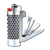 Lighter Case Stainless Steel Multi-Tool Bottle Opener/Scraper/Grinder/Packer/Picker/File for BIC Lighters