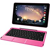 2018 RCA Galileo Pro 2-in-1 11.5' Touchscreen High Performance Tablet PC, Intel Quad-Core Processor 32GB SSD 1GB RAM WIFI Bluetooth Webcam Detachable Keyboard Android 6.0 Pink