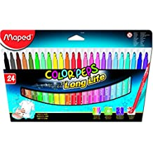 Maped Color Peps Long Life Felt Tip Markers, Box of 24 Assorted Colours (845022)