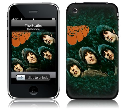MusicSkins, MS-BEAT70001, The Beatles - Rubber Soul, iPhone 2G/3G/3GS, Skin Beatles Rubber Soul Skin