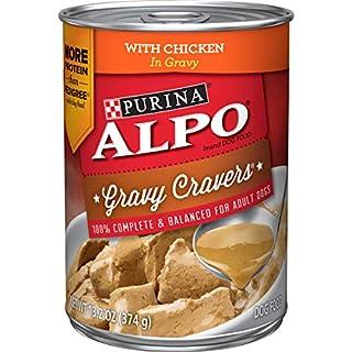Purina ALPO Gravy Wet Dog Food, Gravy Cravers With Chicken - (12) 13.2 oz. Cans