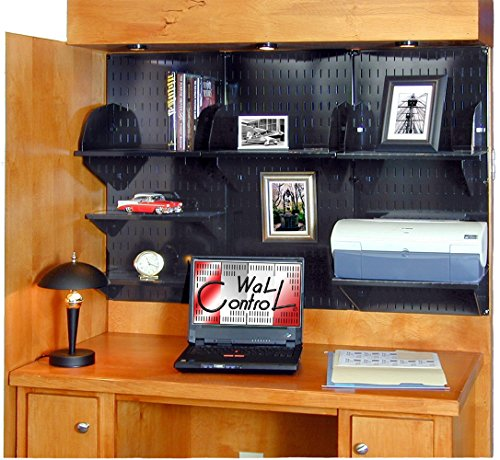 Wall Control 10-OFC-300 BB Office Wall Mount Desk Storage and Organization Kit, Black by Wall Control (Image #2)'
