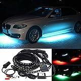 Car Automotive Vehicle Under Glow LED Strip Kits, LED Neons Music Control Exterior Atmosphere Undercar Underbody Decor Light