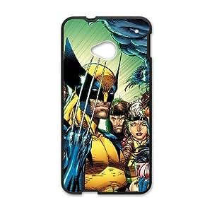 HTC One M7 Phone Case Black Marvel comic HJF682536