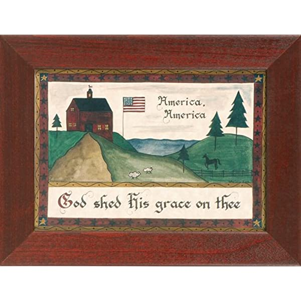 America America God Shed His Grace On Thee Pennsylvania German Fraktur Posters Prints Amazon Com