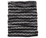 Smartwool Merino 250 Reversible Pattern Neck Gaiter (Black/Charcoal) One Size